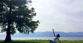 湖岸で朝ヨガ with なぎさんぽ